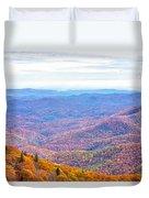 Blue Ridge Mountains 3 Duvet Cover