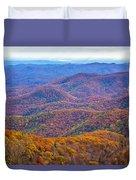 Blue Ridge Mountains 4 Duvet Cover
