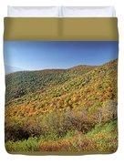 Blue Ridge Mountains In Autumn Duvet Cover