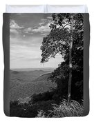 Blue Ridge Mountains - Virginia Bw 10 Duvet Cover