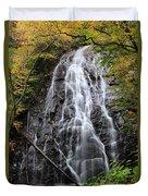 Blue Ridge Parkway Crabtree Falls In Autumn Duvet Cover