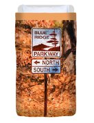 Blue Ridge Parkway Sign Duvet Cover