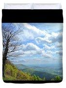 Blue Ridge Parkway Views - Rock Castle Gorge Duvet Cover by Kerri Farley