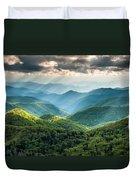 Blue Ridge Southern Appalachian Mountain Light Show Duvet Cover