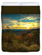 Blue Ridge Sunsets Duvet Cover