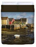 Blue Rocks, Nova Scotia Duvet Cover