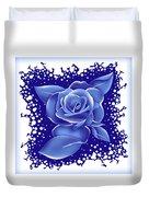 Blue Rose Duvet Cover