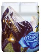 Blue Rose Unicorn Duvet Cover