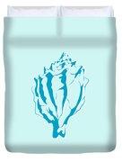 Blue Seashell Duvet Cover