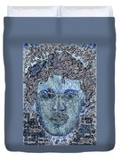Blue Self Portrait Duvet Cover