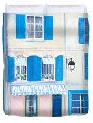 Blue Shutters Arles France Duvet Cover