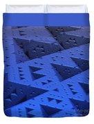Blue Sierpinski Duvet Cover