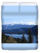 Blue Sierra Lake Duvet Cover