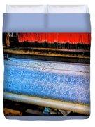 Blue Silk Machine Duvet Cover