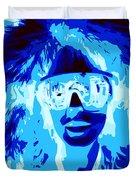 Blue Skier Bob Duvet Cover