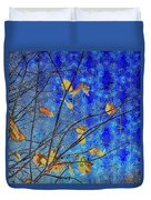 Blue Skies And Last Leaves Of Fall Duvet Cover