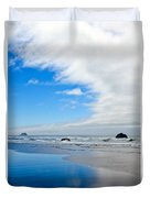 Blue Sky Beaches Duvet Cover