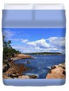 Blue Skies In Maine Duvet Cover
