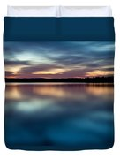 Blue Skies Of Reflection Duvet Cover