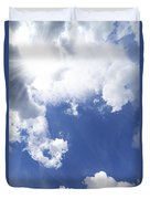Blue Sky And Cloud Duvet Cover by Setsiri Silapasuwanchai