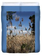 Blue Sky And Seaoats Duvet Cover