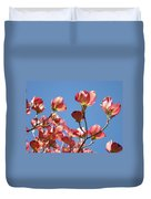 Blue Sky Art Prints Pink Dogwood Flowers 16 Dogwood Tree Art Prints Baslee Troutman Duvet Cover
