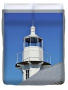 Blue Sky At The Lighthouse Duvet Cover