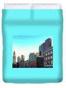 Blue Sky Boston Duvet Cover