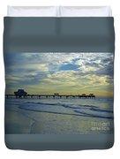 Blue Sky Clearwater Pier 60 Duvet Cover