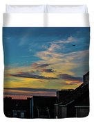 Blue Sky Colorful Sunset Duvet Cover