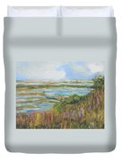 Blue Sky Over Fort Hill Duvet Cover