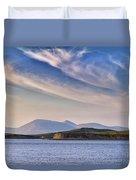 Blue Sky Over The Bay Duvet Cover