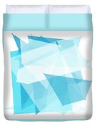 Blue Sky Polygon Pattern Duvet Cover