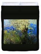 Blue Sky Pond Duvet Cover
