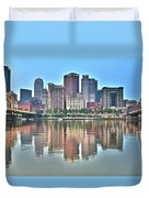 Blue Sky Reflecting Water Duvet Cover