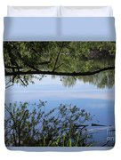 Blue Sky Reflection Duvet Cover