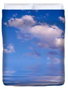 Blue Sky Reflections Duvet Cover