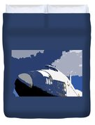 Blue Sky Shuttle Duvet Cover