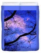 Blue Sky Through The Trees Duvet Cover