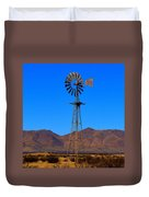 Blue Sky Windmill Duvet Cover