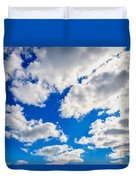 Blue Sky With Cloud Closeup 2 Duvet Cover