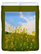 Blue Sky Yellow Flowers Duvet Cover