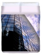 Blue Skyscrapper With A Blue Sky In New Orleans Louisiana Duvet Cover