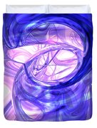 Blue Smoke Abstract Duvet Cover