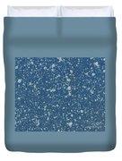 Blue Speckle Duvet Cover