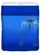Blue Spotted Jellyfish Duvet Cover