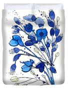 Blue Spray Duvet Cover