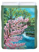 Blue Spring Duvet Cover