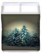 Blue Spruce-maine Evergreens Duvet Cover