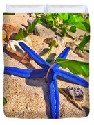 Blue Starfish Duvet Cover